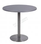 Стол d 80 cm.серый (подстолье из стали)
