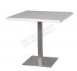 Стол 80х80 серый (шлифованная сталь)