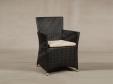 Кресло плетеное темный шоколад