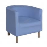 Кресло полукруглое голубое