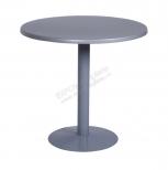 Стол d 80 cm.серый