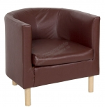 Кресло полукруглое коричневое